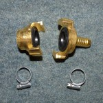 Geka Coupling & Hose Tail with jubilee clips